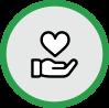 donation circle icon
