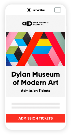 admission tickets landing mobile