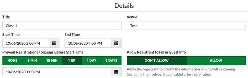 ticket deadlines screenshot