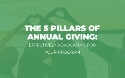 Webinar: 5 Pillars of Annual Giving – Effectively Advocating for Your Program